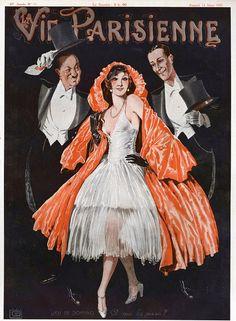 1920s La Vie Parisienne La Mauvaise Nouvelle Girl France French Travel Poster