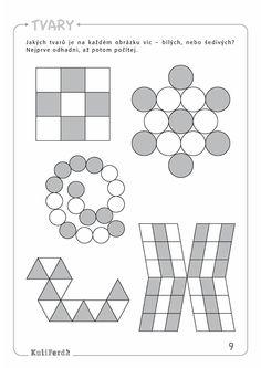 Ukazkove strany KuliFerda ZS pozornost I Excercise, Free Printables, Preschool, Diagram, Children, Geometry, Ejercicio, Young Children, Exercise