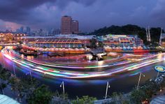 Singapore River Lights up by Draken413o.deviantart.com