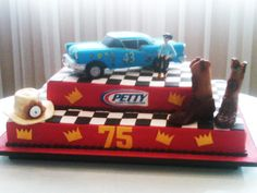 Richard Petty's 75th Birthday Cake! #NASCAR