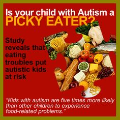 Does your child with #Autism have eating issues? Click on the image to learn more about this study.