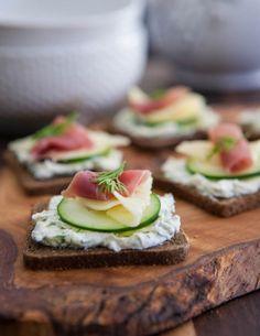 Prosciutto, Swiss and Cucumber Appetizer
