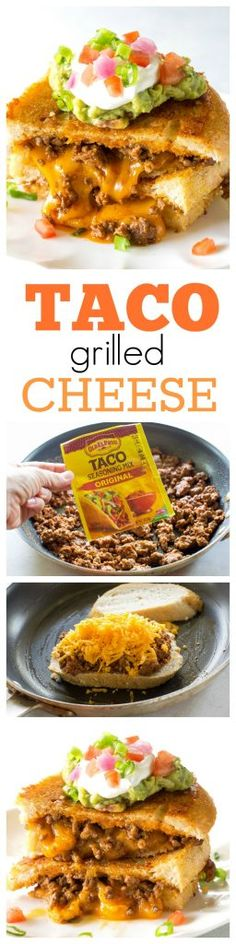 Taco Grilled Cheese - the ultimate indulgence for adults and kids. the-girl-who-ate-everything.com