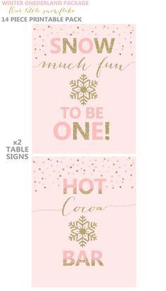 Winter ONEderland Invitation Winter by PixelPerfectionParty