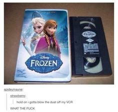 When someone discovered this very unnerving copy of Frozen.