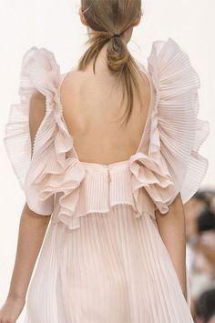 feminine ruffles from the Chloe Spring 2013 runway