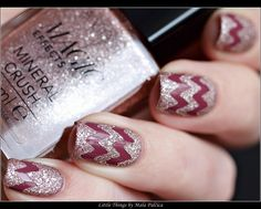 Chevron Manicure with Avon & Lady Queen