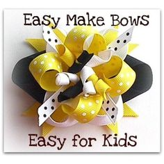 Ez Hair Bow Maker, Bumble Bee,Children Learn How to Make Hair Bows