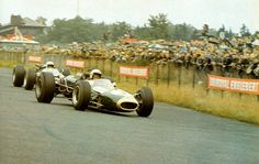 Jack Brabham on his way to a third World Championship. Nurburgring, Germany 1966