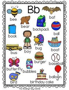 Alphabet Picture Dictionary for Writing Center - Modern Design Alphabet Phonics, Teaching The Alphabet, Alphabet Worksheets, Letter C Activities, Toddler Learning Activities, Dictionary For Kids, Picture Dictionary, Alphabet Words, Alphabet Pictures
