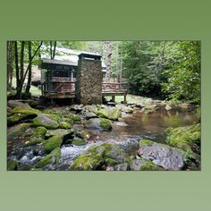 Smoky Mountains Cabin Rental With Hot Tub On A Trout Stream In Western  North Carolina.