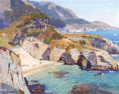 Orrin White (1883-1969). Summer Sea, Carmel. Oil on Canvas, 16.75x20.5 in (42.54 X 52.07cm)