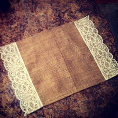 Lace and burlap placemat