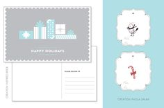 Free printable holiday postcard