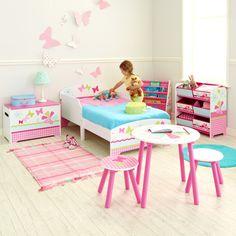 Cama con barandas para niños pequeños girls patchwork