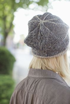 BAYARD STRIPED HAT WITH STRUCTURED SLOUCH