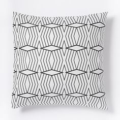 Organic Diamond Stripe Duvet Cover + Shams #westelm