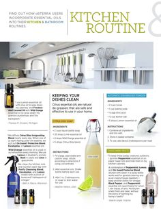 all-natural cleaning in the kitchen with essential oils