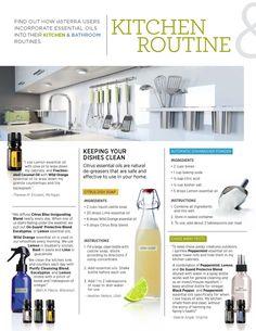 Healthy kitchen: Living Magazine Winter 2014- Liquid Dish soap, Dishwasher Detergent, Clean counter spray