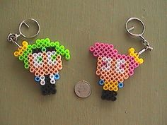 Fairy Godparents Perler Bead Keychains by angelferret