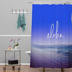 Leah Flores Aloha Beach Shower Curtain | DENY Designs Home Accessories