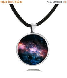 OctoberSale Galaxy GlassPendant Necklace, mothers day gift, pokemon necklace,birthday gift, necklace, crystal pendant, Fathers day Gift by BlackLotusJewelryCo on Etsy