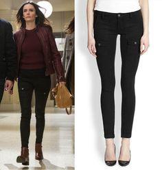 """Juliette Silverton (Bitsie Tulloch) wears a Joie So Real Skinny Cargo Pants in the color Black in Grimm Season 4 Episode 10 """"Tribunal."""" #juliettesilverton #grimm #joie"""