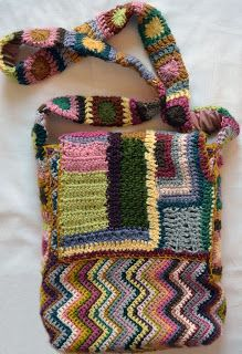 Crafting With Style: Crocheted Zig Zag & Freeform Bag #PSIMADETHIS