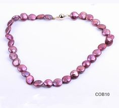 $7.95  Freshwater Pink Flat Pearl Shell Sterling Silver Clasp Jewellery Necklace