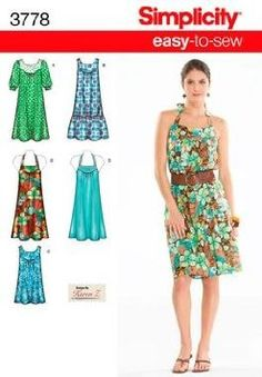 Amazon.com: Simplicity Sewing Pattern 3778 - easy to Sew Dresses & Tunics Size: AA 10 - 18: Home & Kitchen
