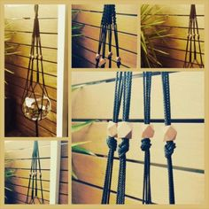 Black-Decorative-Macrame-Hanger-with-Wooden-Copper-Beads