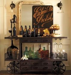 home bar design ideas, furniture and decorative accessories OMG I WISH!! I love love love this! I can't imagine coming across a piece like this and what it would cost.