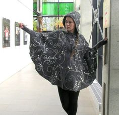 Elven cloak Felted Women Poncho Grey White wool Cape with hood