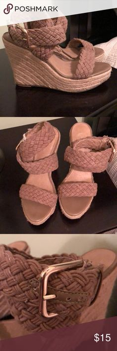 Jessica Simpson wedges Super cute spring/summer wedges. Worn maybe 10 times Shoes Wedges