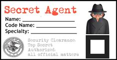 Secret Agent ID Badge
