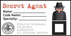 Secret Agent ID Badge