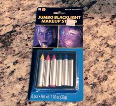 Black light makeup Sticks Black Light Makeup, Blacklight Party, Sticks, The Darkest, Glow, Parties, Party Ideas, Fun, Fiestas