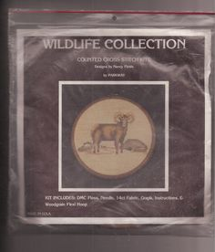 Wildlife Collection Counted Cross Stitch Kit Ram Sheep Mountain Goat 1985 #Parkway #Picture