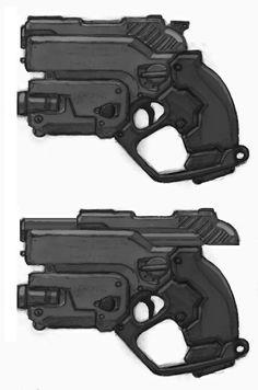 sci fi gun by ~genocidalpenguin https://www.facebook.com/CharacterDesignReferences & https://www.pinterest.com/characterdesigh