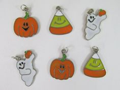 Check out this item in my Etsy shop https://www.etsy.com/listing/205826540/pumpkincandy-corn-ghost-halloween-charms