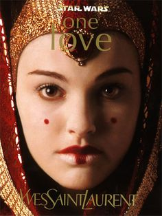 Yves Saint Laurent is enamored of Padmé Amidala's makeup from The Phantom Menace. The holiday makeup collection, called One Love, sells out in weeks. Fancy Makeup, Red Makeup, Love Makeup, Reina Amidala, Queen Amidala, Jedi Cosplay, Tribal Makeup, Ysl Beauty, Star Wars Film