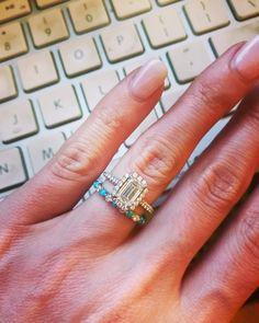 Turquoise and diamond wedding band Turquoise Wedding Jewelry, Turquoise Rings, Diamond Bands, Diamond Wedding Bands, Wedding Rings, Wedding Dreams, Dream Wedding, Dream Engagement Rings, Marital Status