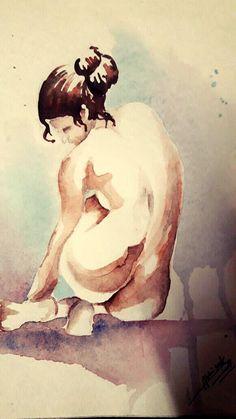 nudeSeries #waterColor #minimalistic @dabhisek570