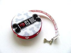 Measuring Tape I Love Dogs Retractable Pocket Tape Measure