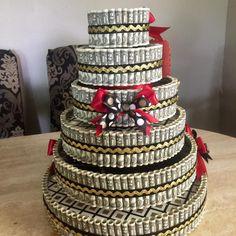 Birthday Money, 15th Birthday, Way To Make Money, How To Make Cake, Money Creation, 21st Bday Ideas, Money Cake, Flower Making, Graduation Gifts
