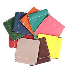 Goat Leather Squeeze Pinch Top Facile Frame Coin Wallet Change Pouch Handmade