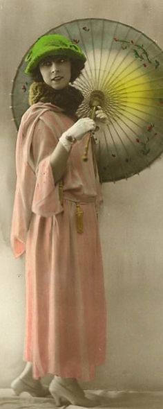 We have photos of Cyril's mom wearing clothing like this!  Vintage 1920's French Fashion Image Detail