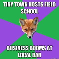 Anthropology Major Fox - tiny town hosts field school business booms at local bar