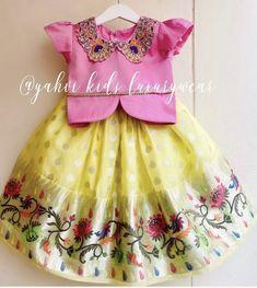 Girls Frock Design, Baby Dress Design, Kids Frocks Design, Baby Frocks Designs, Kids Dress Wear, Kids Gown, Little Girl Dresses, Kids Indian Wear, Kids Ethnic Wear