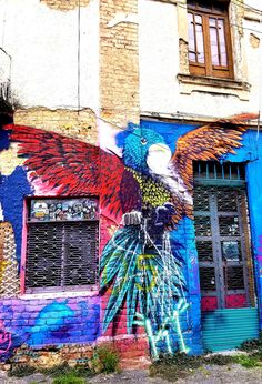 Bogotá Colombia - Street Art & Graffiti – This is from the Chapinero District of Bogotá.  The street art and graffiti is on par with the best in the world.  World class artists have come to Bogotá!  Original Photography by R. Stowe.